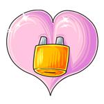 Love locked heart