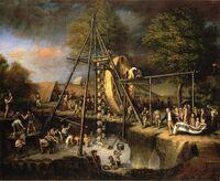 C W Peale - The Exhumation of the Mastadon