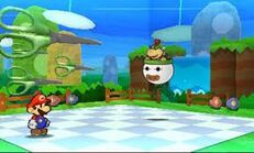 Bowser jr paper mario battle