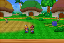 Kooper and mario in Koopa Village
