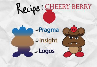 Cheery berry recipe card