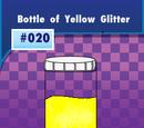 Bottle of Yellow Glitter