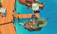 Ghostship docks end