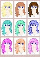 EMily tries differant hair colors from DA