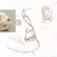 Cat teeth sketch june 22