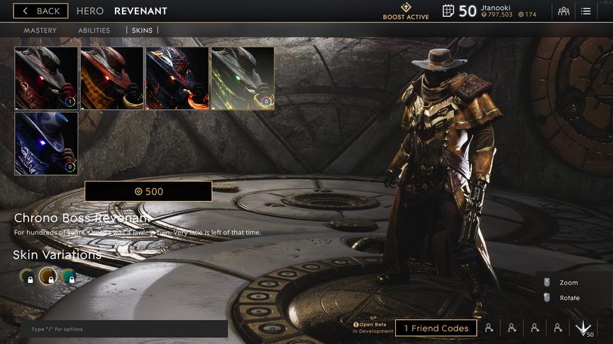 Revenant Rusted Chrono Boss skin