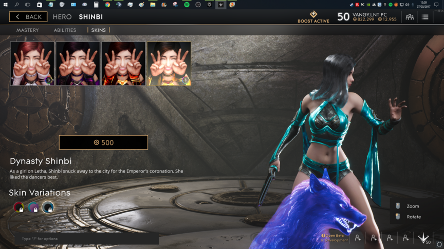 Shinbi Blue Dynasty skin