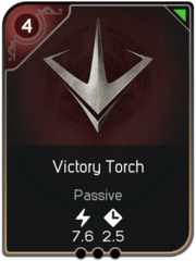 Victory Torch card