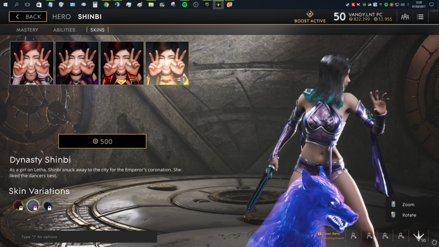 Shinbi Purple Dynasty skin