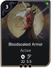 Bloodsoaked Armor card