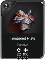 Tempered Plate card