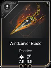 Windcarver Blade card