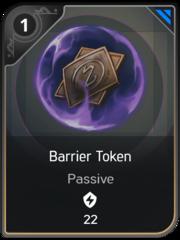 Barrier Token card