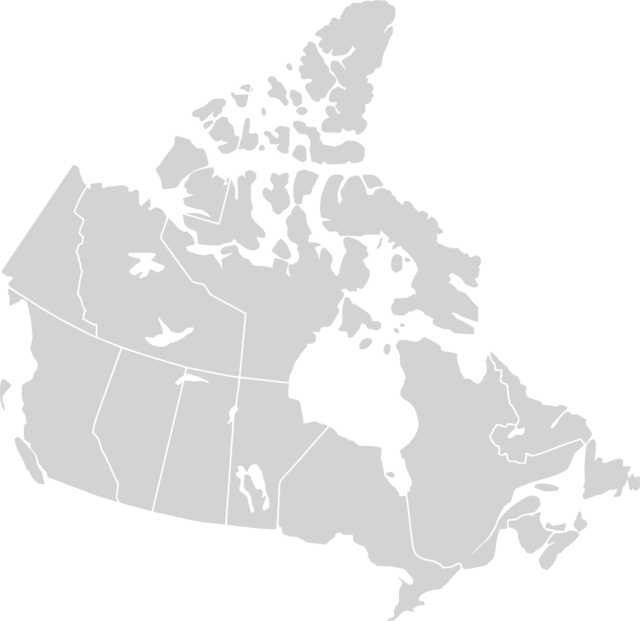 A map of PRT departments in Canada.
