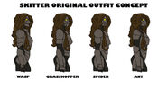 Skitter original outfit concepts worm by wolfofragnarok-d7rvq1w