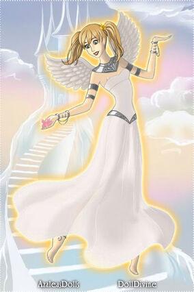Nubia Barahona flying in heaven