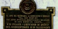 San Martin (de), José (plaque 2)