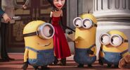 Minions smiling with scarlet