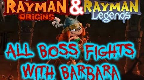 Rayman Legends All Origins and Legends Boss Fights with Barbara Wii U ver.