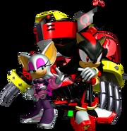 Sonic Heroes Artwork - Team Dark