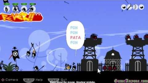 Let's Play Patapon - Mission 5 - Crack the Zigoton Fort!