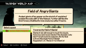 Traverse the Field of Giants Quest info