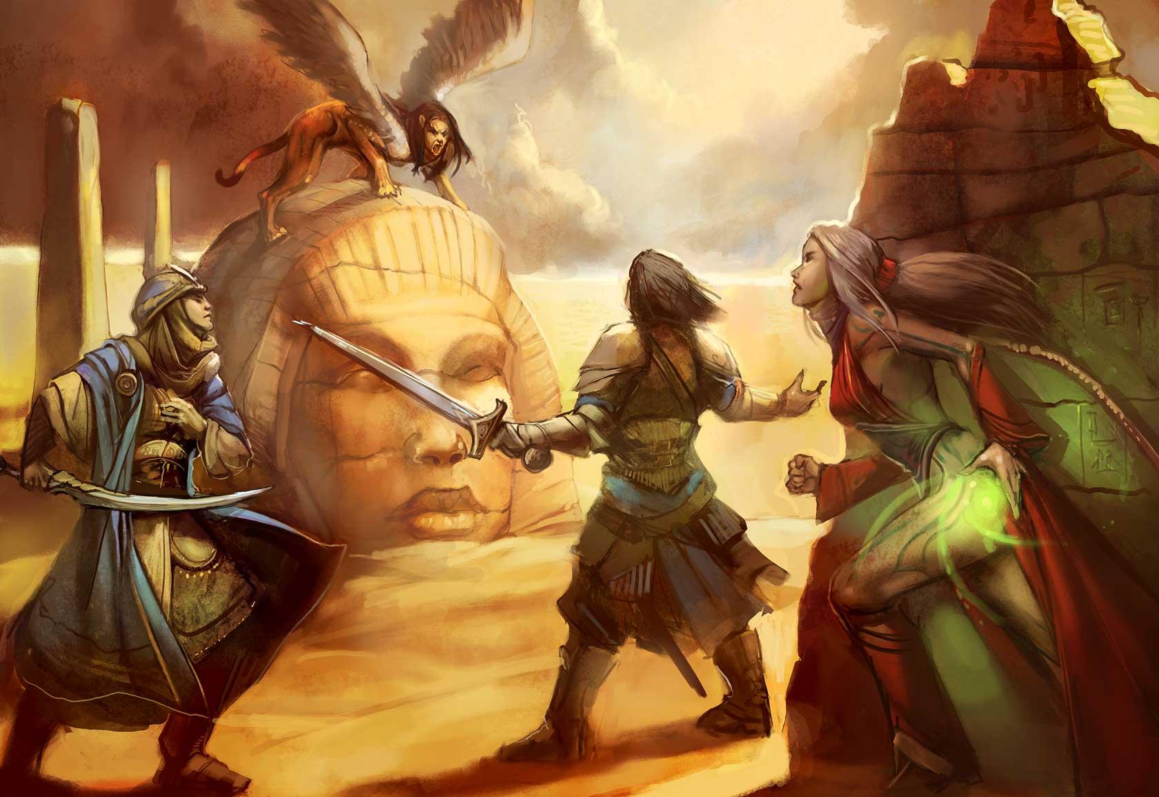 Egypt Warrior Illustration Anubis Pyramid Fantasy Art: FANDOM Powered By Wikia
