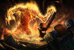 Fire elemental fight