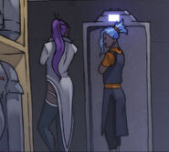 Minalia and Wy checking out golems