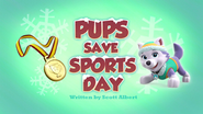 PAW Patrol Pups Save Sports Day Title Card