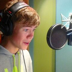 Voicing Marshall in a Season 1 recording session.