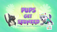 PAW Patrol Pups Get Skunked Title Card