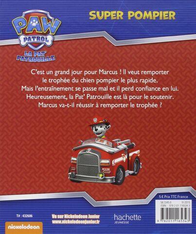 File:PAW Patrol Pat' Patrouille Super pompier Back Cover.jpg