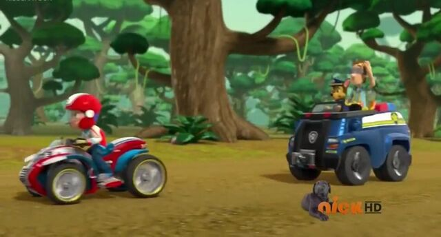 File:PAW Patrol Cap'n Turbot Captain Turbot without His Hat, in Chase's cruiser.jpg
