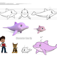 Dolphin design (one on right is the baby dolphin)