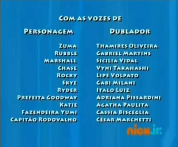 File:PAW Patrol Brazilian Portuguese Cast Credits.png