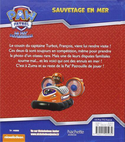 File:PAW Patrol La Pat' Patrouille Sauvetage en mer Back Cover.jpg