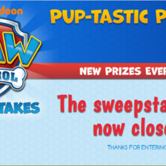 The sweepstakes after it closed.