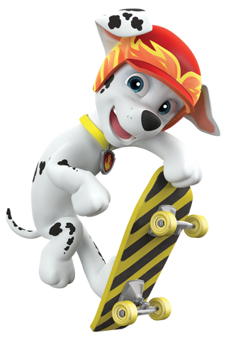 File:PAW Patrol Marshall Off Duty Skateboard.png