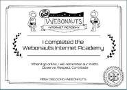 Webonauts Award