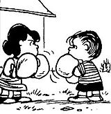 Linus boxing Lucy