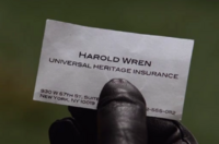 1x21 - Harold Wren's business card