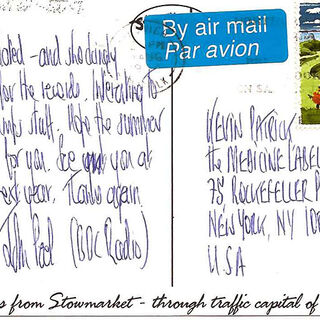 Postcard to Kevin