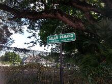 Jalan Pahang sign, George Town, Penang
