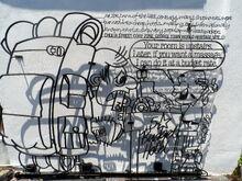 Budget Hotel iron sculpture, Love Lane, George Town, Penang