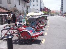 Penang beca trishaw