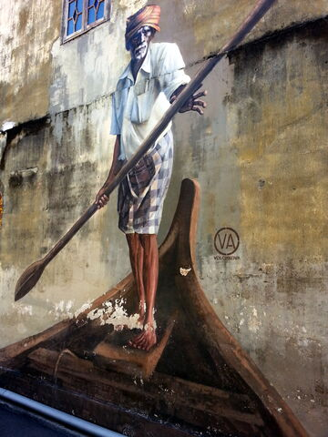 File:Indian Boatman wall mural, Klang Street, George Town, Penang.jpg