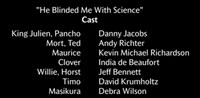 He Blinded Me With Science Voice Cast