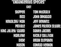 Endangerous species cast