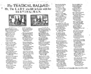 Tragical Ballad 18th century